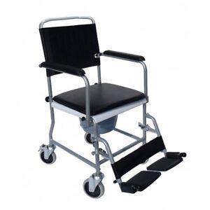 Toilettenrollstuhl Nachtstuhl Toilettenstuhl auf Rollen Rollstuhl
