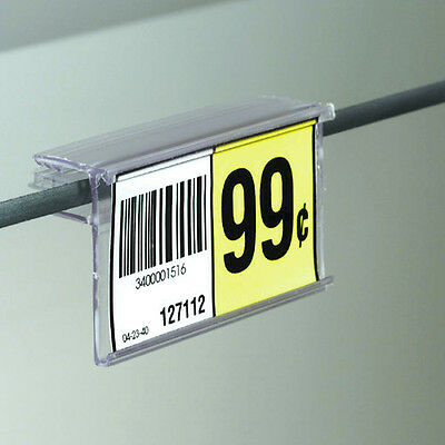 2.5 L X 1.25h Glass Shelf Upc Price Tag Label Holder - 20 Pieces