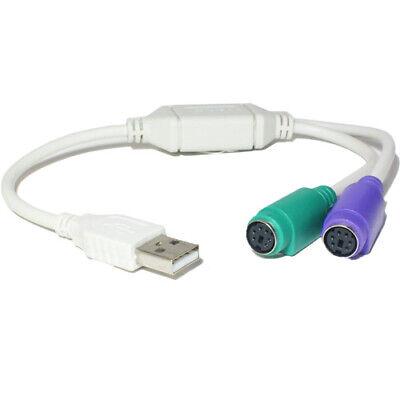 USB A 2x Ps/2 Dual Teclado y Ratón Cable Adaptador - PS2...