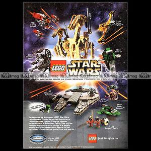 """LEGO STAR WARS 2000 - Pub / Publicité / Original Advert Ad #A1017 - France - État : Occasion : Objet ayant été utilisé. Consulter la description du vendeur pour avoir plus de détails sur les éventuelles imperfections. Commentaires du vendeur : """"Trés bon état"""" - France"""
