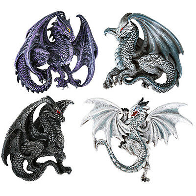 11466 Set/4 Dragon Lair Prey Magnet Figure Collectible Fantasy Mythical Medieval