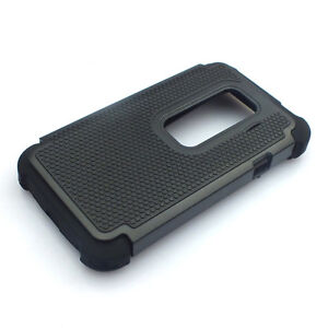 Heavy Duty High Impact Hybrid Hard Case Rugged Armor Cover for HTC EVO 3D Sprint