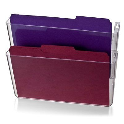 Hanging Wall Files Officemate Wall File, Letter Size, Clear, 2 Pack (21404) Roll
