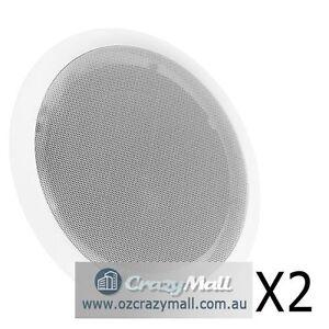 "1 Pair 8"" Indoor Outdoor Ceiling Speakers 2 Way 250W Melbourne CBD Melbourne City Preview"