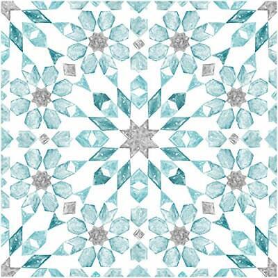 FloorPops FP2949 Radiance Peel & Stick Floor Tile, Blue