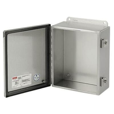 Hoffman Stainless Steel Electrical Enclosure Indooroutdoor Box 8x6x4in - New