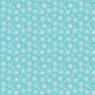 Patchworkstoff Schneeflocken Türkis Weihnachten Stoffe Weihnachtsstoff Patchwork