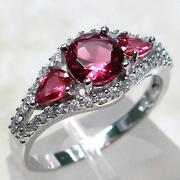 Sterling Silver Ruby Ring Size 9