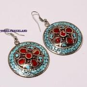 Sterling Silver Coral Earrings
