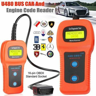 Car Diagnostic Scanner Tool U480 OBD2 CAN BUS & Engine Code Reader for sale  Shipping to Ireland