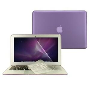 3-in-1-Rubberized-PURPLE-Case-for-Macbook-AIR-13-A1369-Key-Cover-LCD-Screen