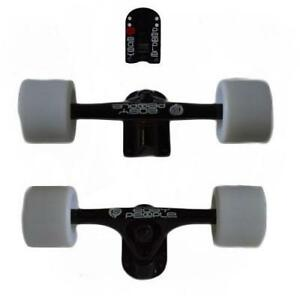 Easy   People Longboards Black Truck set Solid wheels,Spacer Bearing ABEC-7