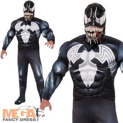 Venom Mens Fancy Dress Marvel Comics Superhero Anti-Hero - Anti Hero Kostüm