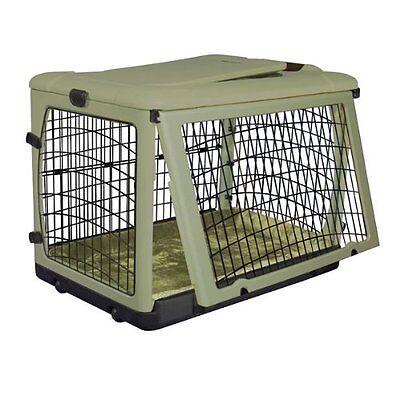 Pet Gear Other Door Steel Crate Plush Bolster Bed Cats Dog 30 Lbs Sage PG5927BSG
