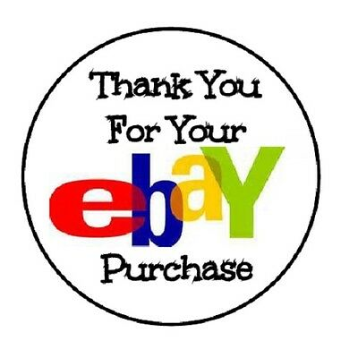 48 Thank You For Your Ebay Purchase    Envelope Seals Labels Stickers 1 2  Round