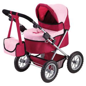 Babypuppen-Puppenwagen Bayer Design 13014 Puppen Kinderwagen Bordeaux/Rosa günstig kaufen