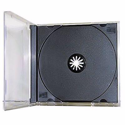 5-pk New Single Standard 10.4mm Assembled Black Tray Cd Dvd Jewel Case