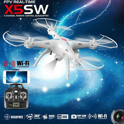 Syma X5SW 2.4G 4CH 6 Axis Gyro RC Drone Quadcopter w/ 2MP HD Camera RTF UAV USA