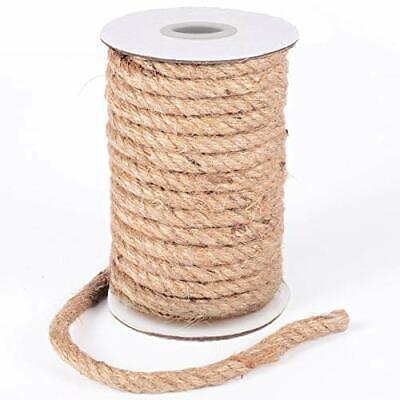 Art Jute Rope Natural Jute Twine 10 mm Hemp Rope Cord Craft for 8 mm x 50 ft