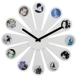 Karlsson Daisy Photo Wall Clock 50cm, White, Holds 12 Photos