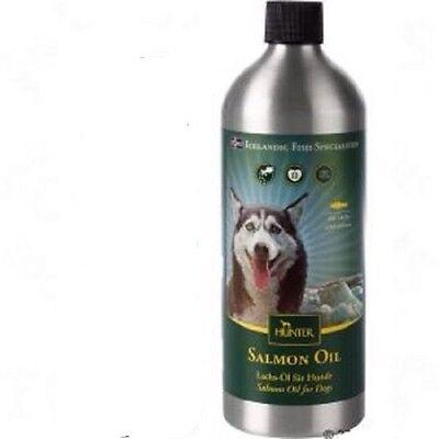 100 % puro olio di salmone islandese per cane  marca HUNTER  500g
