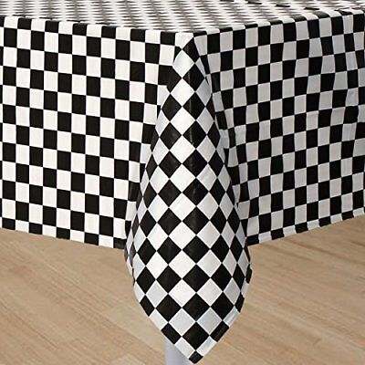 Mountclear 6-Pack Premium Gingham Checkerboard Disposable Plastic Tablecloths...