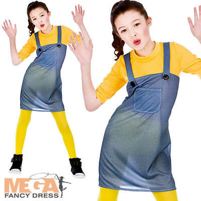 Mischievous Worker Girls Minion Fancy Dress Kids Despicable Me Childrens - Minion Girl Kostüm