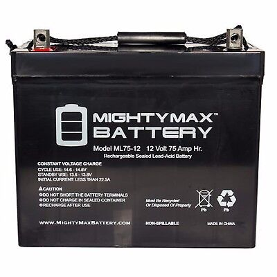 - TWO 12V 75AH GRP 24 Batteries Gel for Scooters, Power Chairs, Golf Carts, etc
