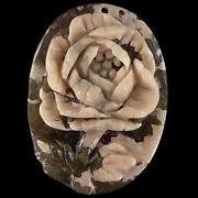 Carved Flower Pendant