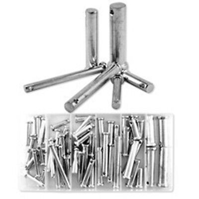 60 Piece Steel Loose Metal Clevis Pin with Head Assortment Set Tool Kit