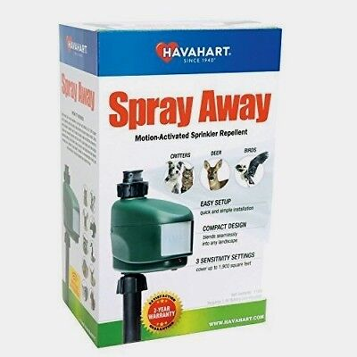 - Havahart SPRAY AWAY Animal Pest Water Repellent Motion Activated Sprinkler 5270