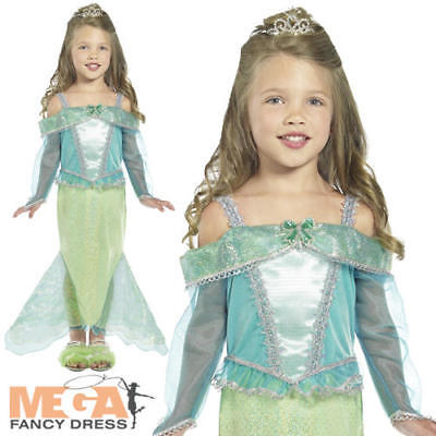 Little Mermaid Character Costumes (The Little Mermaid Princess Fancy Dress Girls Book Character Kids Childs)
