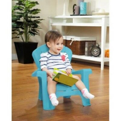 Blue Kid Adirondack Chair Baby Child Indoor Outdoor Patio Yard Furniture Plastic ()