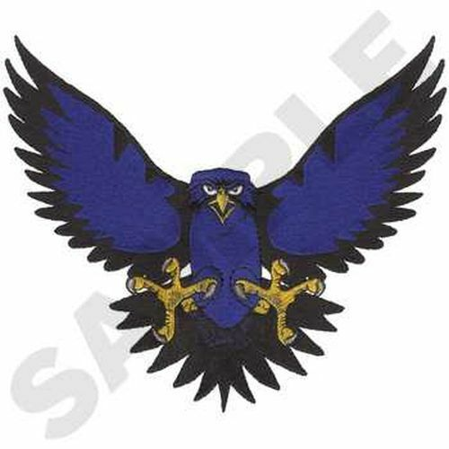 """Hawks, Sports, Mascot Embroidered Patch 8.2"""" x  7"""""""