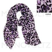 Purple Leopard Scarf