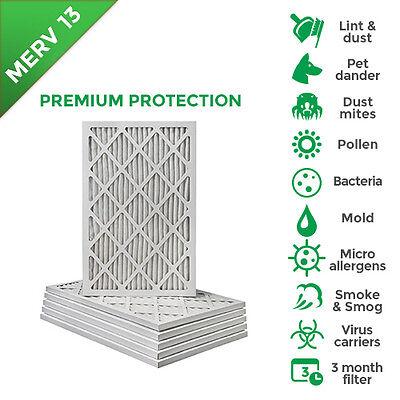 15x20x1 MERV 13  Pleated AC Furnace Air Filters. Box of 6