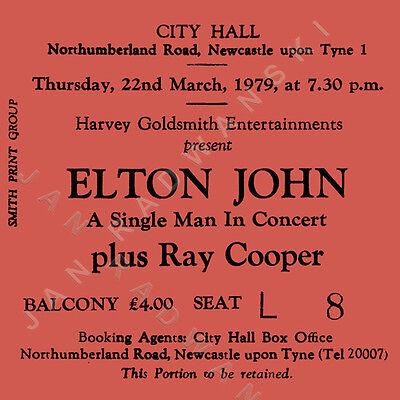 Elton John Concert Coasters March 1979 Ticket High quality Coaster