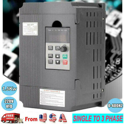 2hpsingle To 3 Phase Ac220v Variable Frequency Drive Vfd Inverter 1.5kw 0-400hz