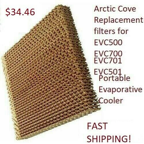 Arctic Cove Replacement filters for EVC500 EVC700 Portable Evaporative Cooler