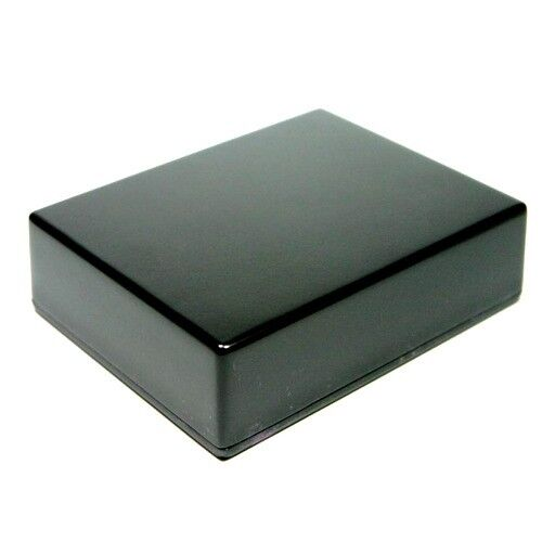 BLACK Guitar Pedal Enclosure - professionally painted - Hammond 1590BB size