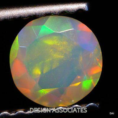 7 MM ROUND CALIBRATED ETHIOPIA WELO OPAL  FACETED MULTI FIRE LOOSE GEMSTONE