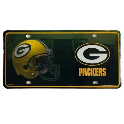 Green Bay Packers Metal License Plate NFL Auto Tag Football Vanity Team Sign Metal Team Plate