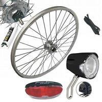 28, Ruota Anteriore Triciclo Set Completo Con Hub Dynamo Kit Di Conversione -  - ebay.it