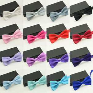 Mens Satin Bowtie, See Available Colours - New