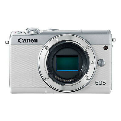 Canon EOS M100 Mirrorless 24.2MP Digital Camera Body White