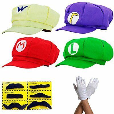 Mario-kostüm Für Erwachsene (thematys Super Mario Mütze Luigi Wario Waluigi - Kostüm-Set für Erwachsene &)