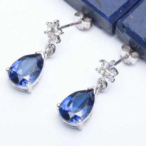 Sapphire Dangle Earrings | eBay