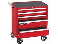 CLARKE 5 DRAWER BALL BEARING TOOL CABINET, RED, CBB215B, mechanic, tools, box