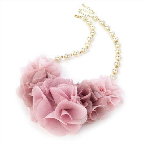 Pearl Necklace with Flower   eBay