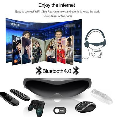 """80"""" Smart Quad Core Android WiFi Video Glasses Touch Media Player Bluetooth M9X8"""